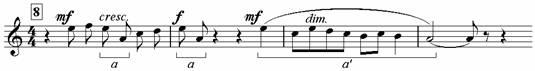 Пример 10. Хор «По горам две хмурых тучи»