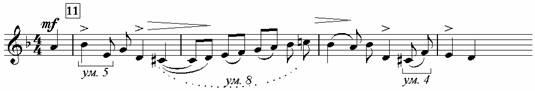 Пример 13. Хор «Прометей»