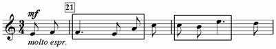 Пример 16. Хор «По горам две хмурых тучи»