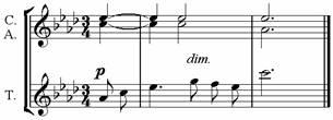 Пример 21. Терцет «Тихой ночью»