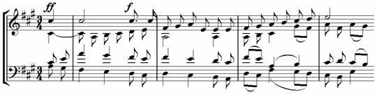 Пример 22. Хор «Звезды» (op. 15)